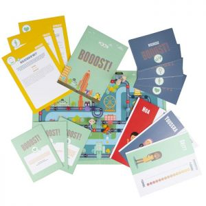 work sheets and game board from Booost!