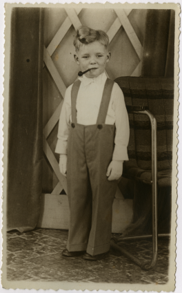little boy with a pipe