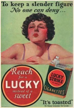 affiche met rokende vrouw