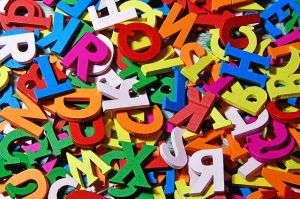 mixed colored letters
