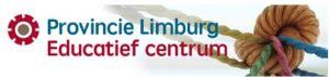 Logo Educatief centrum Provincie Limburg. Koord in een knoop