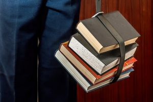 Books bound with belt