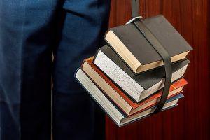 Books bound with belt