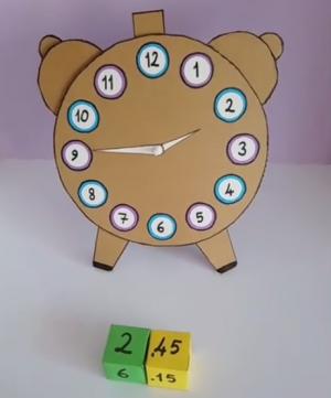 Analog clock and dice with digital clock