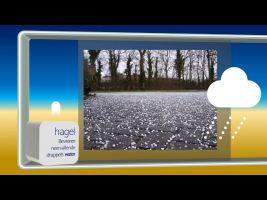 Screenshot of video: photo of hail