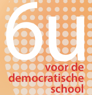 Square with text, six hours for the democratic school
