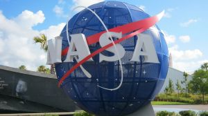 NASA logo on a globe