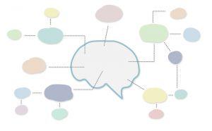 speech bubbles in different colors