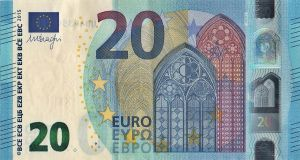 note of twenty euros