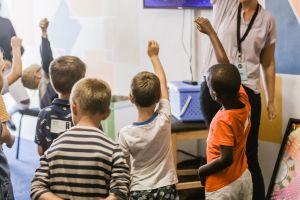 Kinderen in een klas.