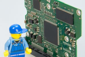 Lego male next to Arduino