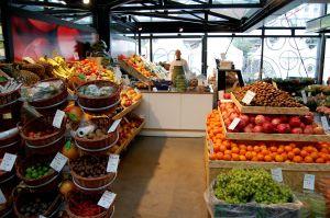 Fruit department in the supermarket