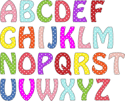 ABC with colorful letters