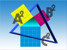 a triangle with a square on each side and again a triangle on the whole