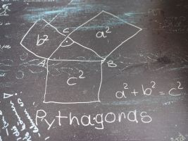 a triangle with squares on each side, pythagoras