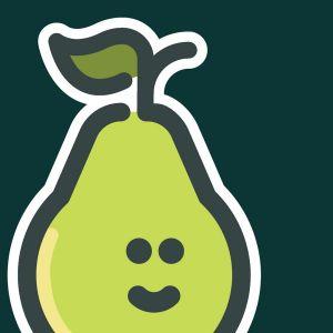 A green pear.