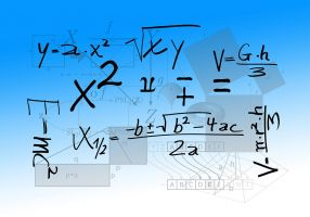 mathematical symbols and operations crisscross each other