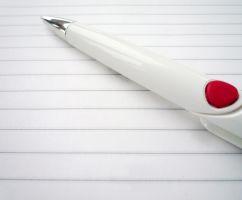 pen on paper sheet