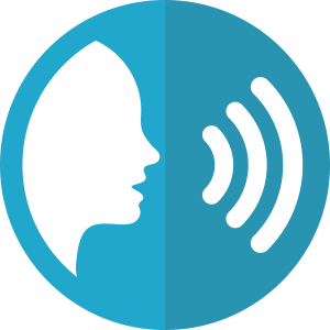 icon of speaking person