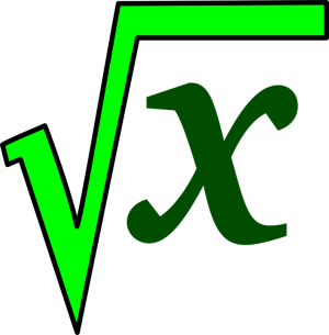square root of x