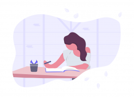 illustration of someone who is studying