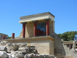 detail of the palace of Knossos