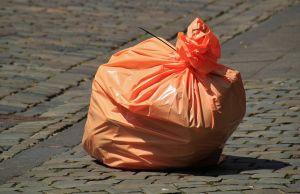 Pink waste bag