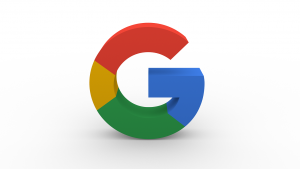 The letter G, the logo of Google in the standard colors of Google.